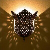 Orientalische Metall wandlampe Lampe MAROKKO Wandschirm aus Eisen Orient HAYAT