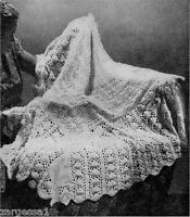 Baby Vintage Lace shawl  Knitting pattern.-To Knit 2ply gorgeous
