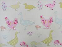 Ashley Wilde Tabitha Sorbet Ducks Chicken Fabric