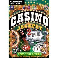 CASINO JACKPOT 2 PC CD-ROM GAME BLACKJACK, ROULETTE etc brand new & sealed UK