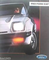 1983 FORD EXP Dealer Sales Brochure / Catalog / Pamphlet; '83