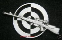 SNIPER PISTOL RIFLE PIN US ARMY NAVY AIR FORCE MARINES USCG SPECIAL OPS WOW