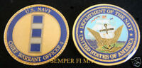 US NAVY CHIEF WARRANT OFFICER 4 CHALLENGE COIN USS CWO4 PIN UP PROMOTION GIFT