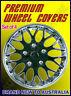 "Premium Wheel Covers 16"" Ice Black and Chrome - SET OF 4 (#970CIB)"
