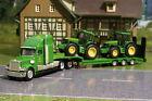 Siku 1837 Freightliner Low Loader with 2x John Deere 6820 Tractors H0 Scale 1:87