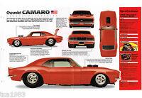 1968 Chevy CAMARO PRO STREET IMP Brochure; SS