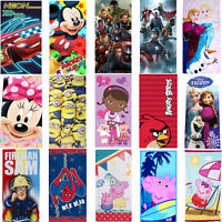 Kids Childrens Disney Marvel Characters Cotton Swim Bath Shower PE Beach Towel
