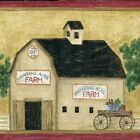 Country General Store & Barn - Gold Red - ONLY $6 - Wallpaper Border 421