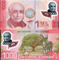 Costa Rica 2009 , 1000 Colones , 1st Polymer Note UNC