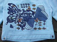 SUPERB VINTAGE 70S FLARED TROUSERS MATCHING JACKET BUTTERFLIES   MUST SEE   8 S