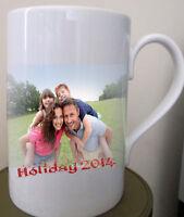 Personalised Porcelain Mug & coaster 6 set print your photo text design memory