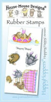 HOUSE MOUSE DESIGNS HAPPYHOPPERS Unmounted Rubber Stamps HOPPING HAPPY JSHM064