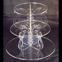 3 Tier Round Acrylic Swan Wedding & Party Cake Stand FREE P&P