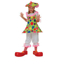 Girls Clowning About Kids Clown Fancy Dress Party Outfit Costume Large Age 8-10