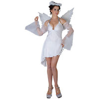 Ladies Sexy Religious Heavenly Christmas Angel Fancy Dress Hen Party Costume L