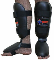TKO Gel Shin Instep Foot Pads MMA UFC Leg Kick Guards Muay Thai Boxing Training