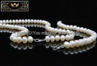 """MP"""" Fine 5-6mm AAA white pearl necklaces&bracelets 925S"""