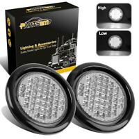 """2X4"""" Round Sealed 40 LEDs Truck Tail Stop Turn backup Light White w/Rubber Mount"""