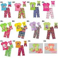 """Dollie & Me 4-14 and Doll Matching Pajamas set ft American Girl 18"""" Doll"""