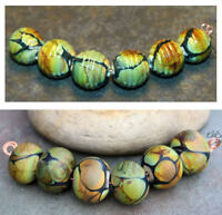 Jora -  Handmade Glass Lampwork Round Beads SRA MTO - Choose etched or glossy