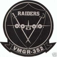 TWO 2 VMGR-352 RAIDERS C-130 HERCULES HERK US MARINES STICKER DECAL ZAP MCAS WOW
