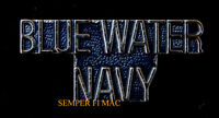 US NAVY BLUE WATER NAVY SCRIPT USS USN HAT PIN Maritime Expeditionary Force