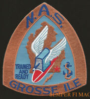 NAS GROSSE ILE PATCH USS US NAVY MARINES PIN UP US NAVAL AIR STATION  WING WOW