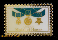 MEDAL OF HONOR MOH HAT LAPEL VEST PIN UP US ARMY MARINES NAVY AIR FORCE VET GIFT