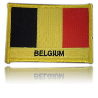Belgium Embroidered Flag patch -Iron on or Sew