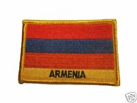 Armenia Embroidered Flag patch -Iron on or Sew