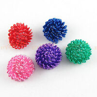 25Pcs Metal Winding Half Ball Beads Findings 8x12mm,5 Colors-1 or Mixed T1225