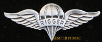 Parachute RIGGER WING LAPEL HAT PIN US ARMY MARINES NAVY AIR FORCE PARACHUTE WOW