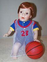 "DANBURY MINT Porcelain Doll ELKE HUTCHENS ""DANNY"" DOLL NIB"