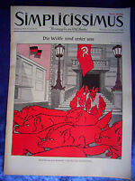 """""""SIMPLICISSIMUS - Die Wölfe sind unter uns (Heft-Nr. 17 vom 28. April 1956)"""""""