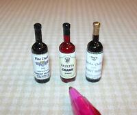 Miniature Wine Bottle Assortment #3 for DOLLHOUSE Miniatures 1/12 Scale