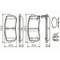 Bremsbelagsatz, Scheibenbremse BOSCH KIA: SEDONA | HYUNDAI: MONTANA, ix55, H300