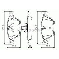 Bremsbelagsatz, Scheibenbremse BOSCH BMW: 3, 5, X1, Z4