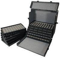 Aluminum Travel Case Jewelry Tray Organizer Trade Shows