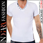 Redbridge by Cipo & Baxx T-Shirt Maglietta Uomo ADDITION bianco R.1597 - S XL