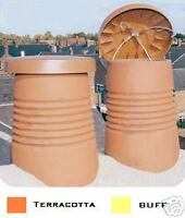 Flue/Chimney Pot Cap/Cowl for pots up to 280mm TERRACOTTA COLOURED
