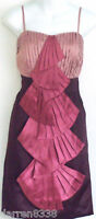 NEW~MONSOON~LEATRICE PINK SILK COCKTAIL DRESS 12 £150 EVENING/WEDDING/PROM