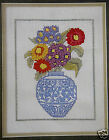 Blue Vase of flowers - Coats/Puppets counted cross-stitch kit