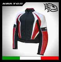 Giacca giubbotto pelle moto Kratos Sport mod. Ago's Leap tg. L - Ducati 848 1098