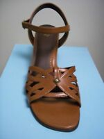 LIFESTRIDE Womens Tan Brown Shoes Open Toe Sandals Heels Pumps Chime  9.5 M NEW