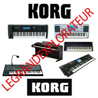 Ultimate  KORG  Repair Service  & Schematics Manuals  (135 PDFs manual s on DVD)