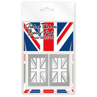 20 x Union Jack Mini Glitter Tattoo / Body Art Stencil Pack. Ideal Child Size !