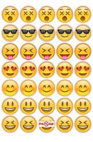 40 Emoji Cupcake Cake Toppers Decorations Edible Wafer Paper Pre Cut
