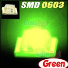 50PCS x Green Super bright SMD SMT 0603 LED 125 angle SMD/SMT light lamp