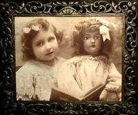 "HAUNTED Victorian Girl & Doll Photo""EYES FOLLOW YOU"""