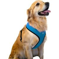 SimplyDog XXL Mesh Dog Harness Black, Blue, Red, Pink & Reflective Colors New!